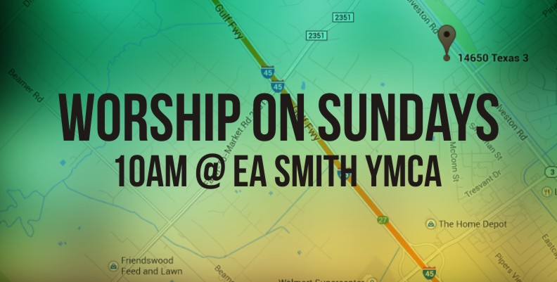 Worship on Sundays Banner